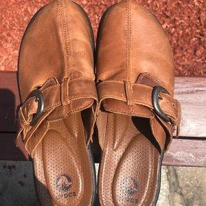 Crocs Leather Clogs